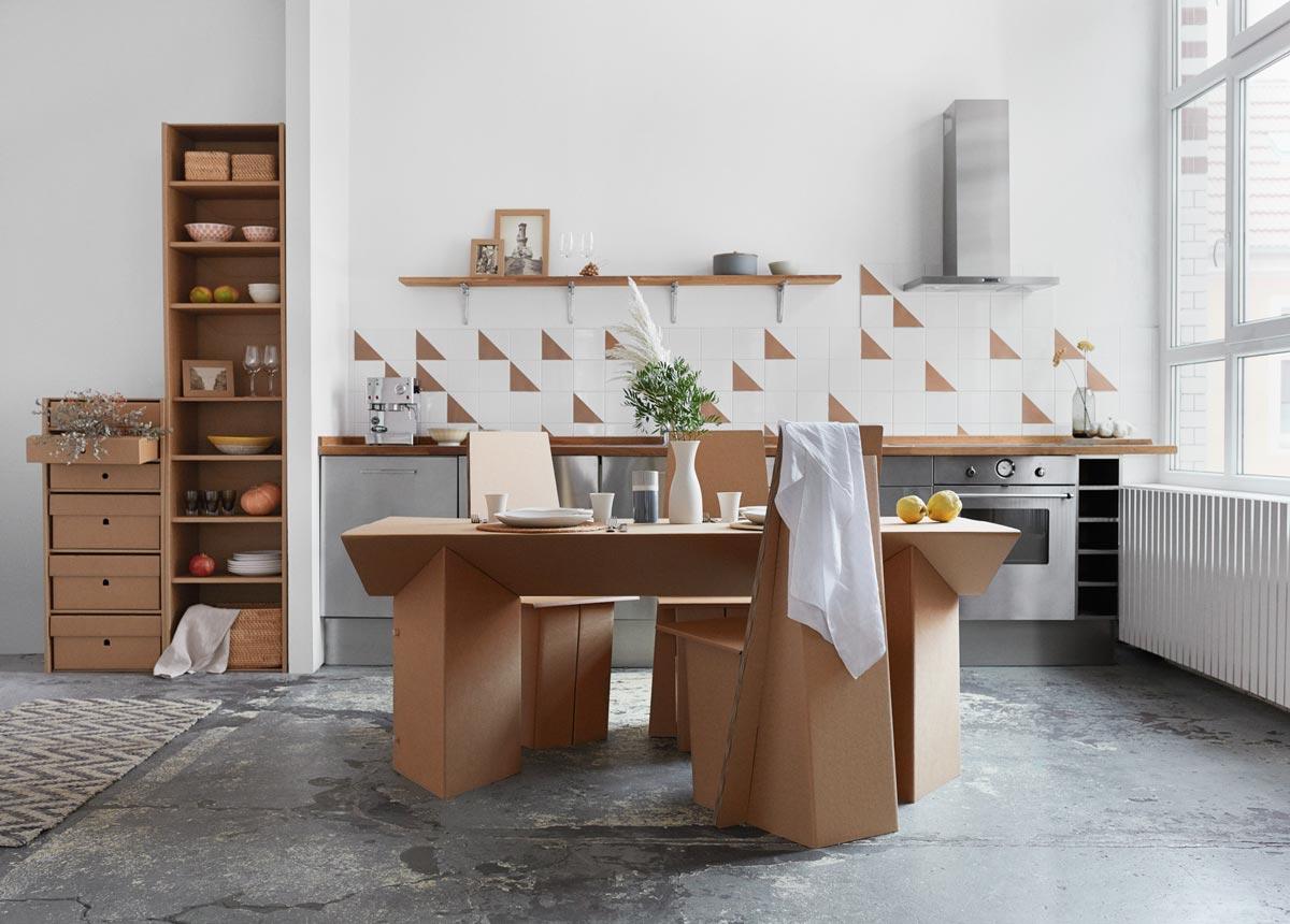 Mobel Aus Pappe Tisch Tabula Rasa Der Keiltisch Aus Pappe Von Stange Design