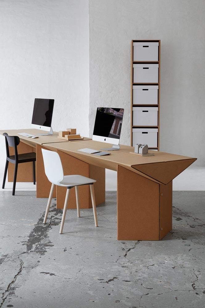 Tisch Aus Pappe tisch tabula rasa - der keiltisch aus pappe von stange design